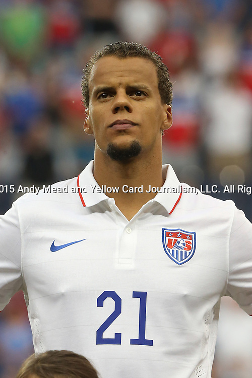 13 July 2015: Timmy Chandler (USA). The United States Men's National Team played the Panama Men's National Team at Sporting Park in Kansas City, Kansas in a 2015 CONCACAF Gold Cup Group A match.