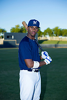 AZL Brewers Ernesto Wilson Martinez (56) poses for a photo before a game against the AZL Cubs on August 24, 2017 at Maryvale Baseball Park in Phoenix, Arizona. AZL Cubs defeated the AZL Brewers 9-1. (Zachary Lucy/Four Seam Images)