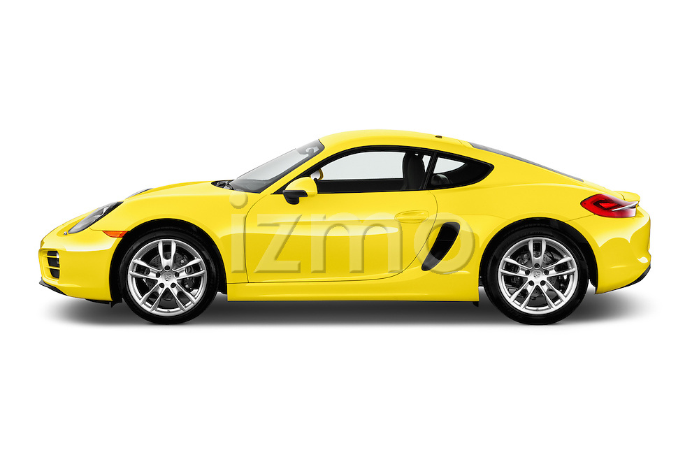 Car Driver side profile view of a 2016 Porsche Cayman 3 Door Coupe Side View
