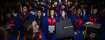 Students attend the DePaul University College of Education commencement ceremony, Saturday, June 10, 2017, at the Rosemont Theatre in Rosemont, IL. (DePaul University/Jeff Carrion)