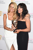 Tess Daly and Claudia Winkleman<br /> in the winners room at the 2016 BAFTA TV Awards, Royal Festival Hall, London<br /> <br /> <br /> &copy;Ash Knotek  D3115 8/05/2016
