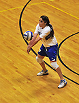 14 October 2012: Yeshiva University Maccabee Shira Genauer, a Junior from Seattle, WA, in action against the Culinary Institute Steels at Culinary Institute of America in Hyde Park, NY. The Steels defeated the Maccabees 3-0 in NCAA women's volleyball play. Mandatory Credit: Ed Wolfstein Photo