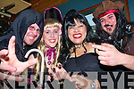 5789-5792.Fright night.L-R Richard O'Connor,Merisa Moriarty,Kristina Doreke and Justin Ross all enjoying the halloween party in the Greyhound bar last saturday night.