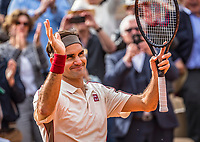 Paris, France, 29 May, 2019, Tennis, French Open, Roland Garros, Roger Federer (SUI)<br /> Photo: Henk Koster/tennisimages.com