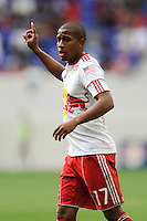 Jeremy Hall (17) of the New York Red Bulls. The New York Red Bulls defeated the Philadelphia Union 2-1 during a Major League Soccer (MLS) match at Red Bull Arena in Harrison, NJ, on April 24, 2010.