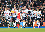 Tottenham's Toby Alderweireld celebrates scoring his sides opening goal<br /> <br /> - English Premier League - Tottenham Hotspur vs Arsenal  - White Hart Lane - London - England - 5th March 2016 - Pic David Klein/Sportimage