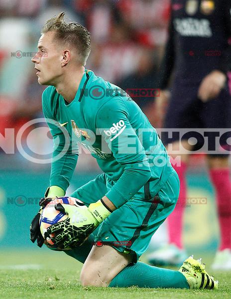 FC Barcelona's Marc-Andre Ter Stegen during La Liga match. August 28,2016. (ALTERPHOTOS/Acero) /NORTEPHOTO