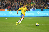 June 9th 2017, Melbourne Cricket Ground, Melbourne, Australia; International Football Friendly; Brazil versus Argentina; Marcio Rafael Souza of Brazil running with the ball