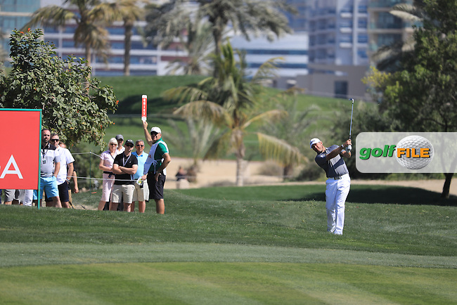 Lee Westwood (ENG) on the 9th during the final round of the Omega Dubai Desert Classic, Emirates Golf Club, Dubai,  United Arab Emirates. 05/02/2017<br /> Picture: Golffile   Fran Caffrey<br /> <br /> <br /> All photo usage must carry mandatory copyright credit (&copy; Golffile   Fran Caffrey)