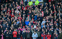 Lincoln City fans enjoy the pre-match atmosphere<br /> <br /> Photographer Chris Vaughan/CameraSport<br /> <br /> The EFL Sky Bet League Two - Lincoln City v Cheltenham Town - Saturday 13th April 2019 - Sincil Bank - Lincoln<br /> <br /> World Copyright © 2019 CameraSport. All rights reserved. 43 Linden Ave. Countesthorpe. Leicester. England. LE8 5PG - Tel: +44 (0) 116 277 4147 - admin@camerasport.com - www.camerasport.com