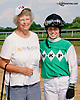 Cecily Evans and a fan at Delaware Park on 7/26/14
