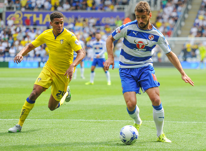 Reading's Orlando Sa in action during todays match  <br /> <br /> Photographer Craig Thomas/CameraSport<br /> <br /> Football - The Football League Sky Bet Championship - Reading v Leeds United - Sunday 16th August 2015 - Madejski Stadium - Reading<br /> <br /> &copy; CameraSport - 43 Linden Ave. Countesthorpe. Leicester. England. LE8 5PG - Tel: +44 (0) 116 277 4147 - admin@camerasport.com - www.camerasport.com