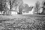 Smith Meetinghouse School  & Smith Meetinghouse during the autumn months. Located in Gilmanton,  New Hampshire USA....