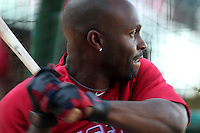 Los Angeles Angels outfielder Torii Hunter #48 before a game against the Chicago White Sox at Angel Stadium on August 23, 2011 in Anaheim,California. Los Angeles defeated Chicago 5-4.(Larry Goren/Four Seam Images)