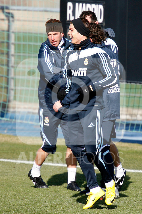 Madrid (24/02/10).-Entrenamiento del Real Madrid..Cristiano Ronaldo...© Alex Cid-Fuentes/ ALFAQUI..Madrid (24/02/10).-Training session of Real Madrid c.f..Cristiano Ronaldo...© Alex Cid-Fuentes/ ALFAQUI.