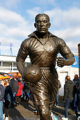 2nd February 2019, Goodison Park, Liverpool, England; EPL Premier League Football, Everton versus Wolverhampton Wanderers; The club's memorial to Everton legend Dixie Dean, who scored a record 60 League goals for Everton in 1927-28