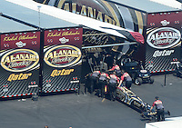 Apr. 14, 2012; Concord, NC, USA: NHRA top fuel dragster driver Khalid Albalooshi during qualifying for the Four Wide Nationals at zMax Dragway. Mandatory Credit: Mark J. Rebilas-