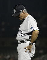 June 17, 2004:  Manager Bucky Dent of the Columbus Clippers, International League (AAA) affiliate of the New York Yankees, during a game at Frontier Field in Rochester, NY.  Photo by:  Mike Janes/Four Seam Images
