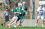 Los Angeles, CA 02/06/16 - Austin Lord (Cal Poly #1)in action during the Cal Poly SLO Mustangs vs Loyola Marymount Lions MCLA Men's Lacrosse game.  Cal Poly defeated LMU 24-5