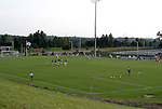 24 August 2004: The Earthquakes (foreground) and Wizards (behind) warm up before the game. The Kansas City Wizards defeated the San Jose Earthquakes 1-0 at Blue Valley District Athletic Complex in Overland Park, KS in a semifinal game in the 2004 Lamar Hunt U.S. Open Cup..