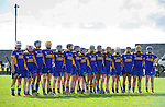 The  Newmarket team stand for the anthem before their senior county final in Clarecastle. Photograph by John Kelly.