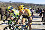 Sep Vanmarcke (BEL) Lotto NL-Jumbo climbs Sector 7 Monte Sante Maria of gravel during the 2015 Strade Bianche Eroica Pro cycle race 200km over the white gravel roads from San Gimignano to Siena, Tuscany, Italy. 7th March 2015<br /> Photo: Eoin Clarke/www.newsfile.ie