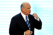 In this file photo, former United States Senator Fred Thompson (Republican of Tennessee) speaks in favor of the candidacy of United States Senator John McCain (Republican of Arizona) at the 2008 Republican National Convention in St. Paul, Minnesota on Tuesday, September 2, 2008. Thompson's family announced he passed away on Sunday, November 1, 2015 at age 73 in Nashville, Tennessee after a recurrence of lymphoma.<br /> Credit: Ron Sachs / CNP <br /> (RESTRICTION: NO New York or New Jersey Newspapers or newspapers within a 75 mile radius of New York City)