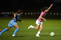 Kansas City, MO - Friday May 13, 2016: FC Kansas City midfielder Erika Tymrak (15) against Chicago Red Stars midfielder Danielle Colaprico (24) during a regular season National Women's Soccer League (NWSL) match at Swope Soccer Village. The match ended 0-0.