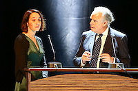 - NO TABLOIDS, NO SITE WEB - Winners Evening of the Prince Pierre of Monaco Foundation at the Opera Garnier, Monaco. H.S.H. Prince Albert II of Monaco and H.R.H. Princess Caroline of Hanover attend the ceremony and Princess Caroline gives two literary prizes : the Literary Prize to Adonis for his whole work and the 'Bourse de la DÈcouverte' to Paul Greveillac for his book 'Les 'mes Rouges'. Catherine Dousteyssier-Khoze and FrÈdÈric Mitterrand. Catherine Dousteyssier-Khoze (winner of the 'Coup de coeur des LycÈens' prize) and FrÈdÈric Mitterrand.