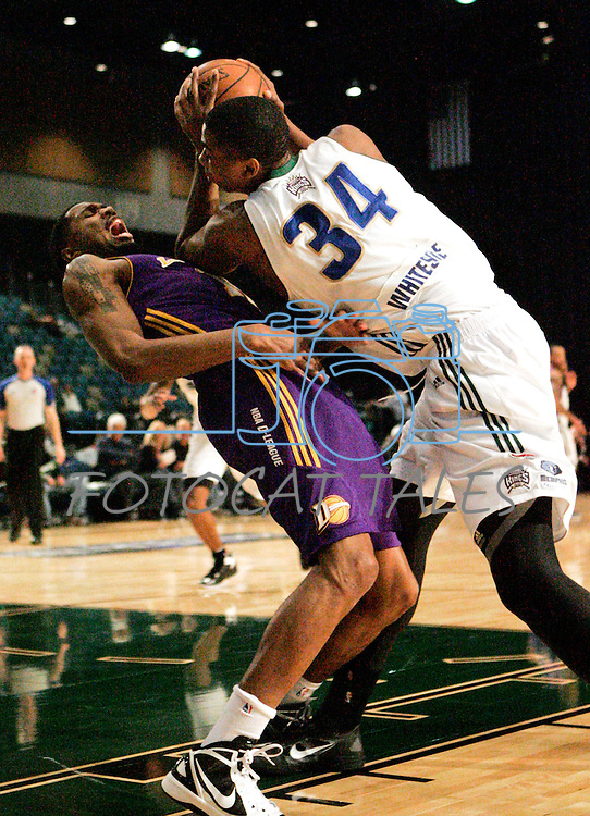 during the men's basketball game between the Los Angeles D-Fenders and the Reno Bighorns, in Reno, Nev., on Friday, Jan. 6, 2012. The D-Fenders won 109-78..Photo by Cathleen Allison