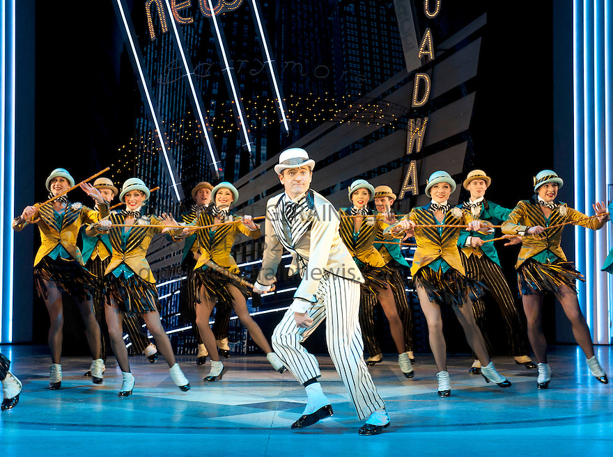 Top Hat . Music and Lyrics by Irving Berlin based on the RKO movie. A world Premiere directed by Matthew White, choreographed by Bill Deamer. With Tom Chambers as Jerry Travers. Opens at Aldwych Theatre   on 9/5/12 .CREDIT Geraint Lewis