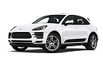 Stock pictures of low aggressive front three quarter view of a 2019 Porsche Macan Base 5 Door SUV