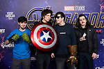 Alexby, El Rubius, Mangel and Orslok attends to Avengers Endgame premiere at Capitol cinema in Madrid, Spain. April 23, 2019. (ALTERPHOTOS/A. Perez Meca)