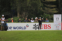 Joakim Lagergren (SWE) on the 17th tee during Round 3 of the UBS Hong Kong Open, at Hong Kong golf club, Fanling, Hong Kong. 25/11/2017<br /> Picture: Golffile | Thos Caffrey<br /> <br /> <br /> All photo usage must carry mandatory copyright credit     (&copy; Golffile | Thos Caffrey)