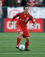 Sam Cronin of Toronto FC in MLS action at BMO Field on April 4, 2009. Seattle won 2-0.