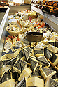 Deli department cheese section  display cooler case
