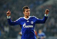 FUSSBALL   1. BUNDESLIGA    SAISON 2012/2013    11. Spieltag   FC Schalke - 04 Werder Bremen                              10.11.2012 Roman Neustaedter (FC Schalke 04) jubelt nach dem 1:1