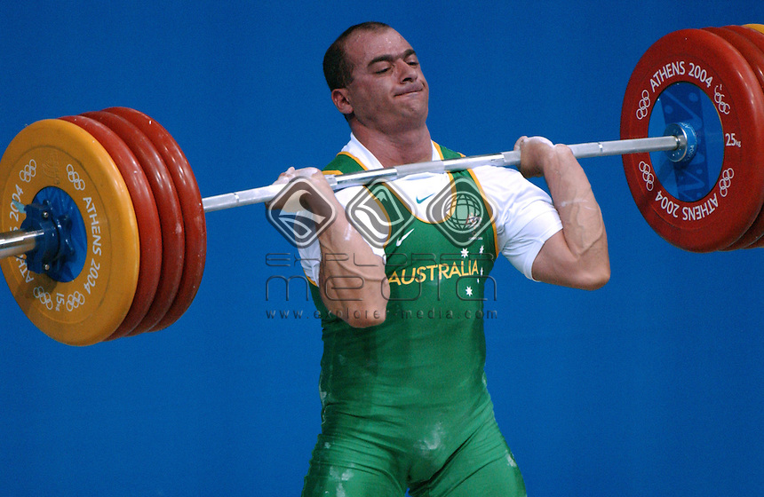 Sergo Chakhoyan (AUS)<br /> Weightlifting - Men's 85kg<br /> Summer Olympics - Athens Greece 2004<br /> Day 08, 21st August 2004.<br /> &copy; Sport the library/Ryan Gormly