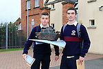 Jack Taggart, Calum Kenny<br /> who collected there Junior cert results<br /> Picture Fran Caffrey www.newsfile.ie