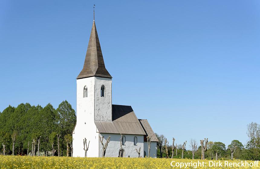 Kirche von Hedjeby auf der Insel Gotland, Schweden, Europa<br /> church of Hedjeby,  Isle of Gotland, Sweden