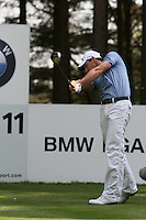 Oliver Wilson tees off on the 11th hole during the 3rd round of the 2008 BMW PGA Championship at Wentworth Club, Surrey, England 24th May 2008 (Photo by Eoin Clarke/GOLFFILE)