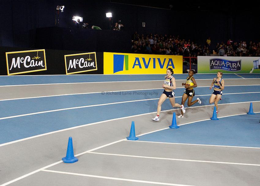 Photo: Richard Lane/Richard Lane Photography. Aviva Glasgow International Match at the Kelvin Hall. 31/01/2009. Women's 3000m.