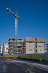 Construction site cranes for student accommodation, Wet Dock, Ipswich, Suffolk