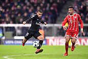 December 5th 2017, Allianze Arena, Munich, Germany. UEFA Champions league football, Bayern Munich versus Paris St Germain;  29 KYLIAN MBAPPE (psg) - 24 Corentin Tolisso (bay)