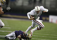 Oct 30, 20010:  Stanford quarterback #5 Alex Loukas scrambles for a 1-yard run against Washington.  Stanford defeated Washington 41-0 at Husky Stadium in Seattle, Washington...