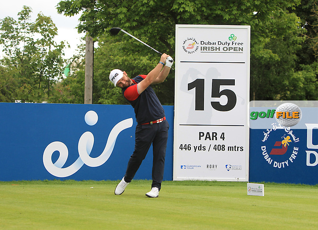 Andy Sullivan (ENG) on the 15th tee during Wednesday's Pro-Am round of the Dubai Duty Free Irish Open presented  by the Rory Foundation at The K Club, Straffan, Co. Kildare<br /> Picture: Golffile | Thos Caffrey<br /> <br /> All photo usage must carry mandatory copyright credit <br /> (&copy; Golffile | Thos Caffrey)