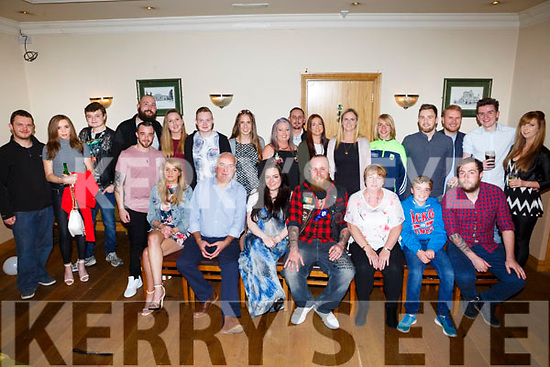 Josh O'Sullivan, Lixnaw, celebrating his 30th birthday with family and friends at Kerins O'Rahillys Club House on Saturday