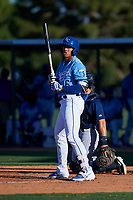 AZL Royals Gary Camarillo (16) at bat during an Arizona League game against the AZL Brewers Blue at Surprise Stadium on June 18, 2019 in Surprise, Arizona. AZL Royals defeated AZL Brewers Blue 12-7. (Zachary Lucy/Four Seam Images)
