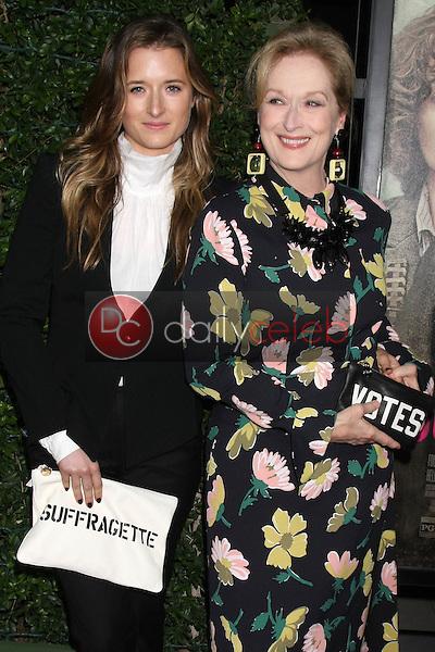 "Grace Gummer, Meryl Streep<br /> at the ""Suffragette"" Premiere, Samuel Goldwyn Theater, Beverly Hills, CA 10-20-15<br /> David Edwards/DailyCeleb.Com 818-249-4998"