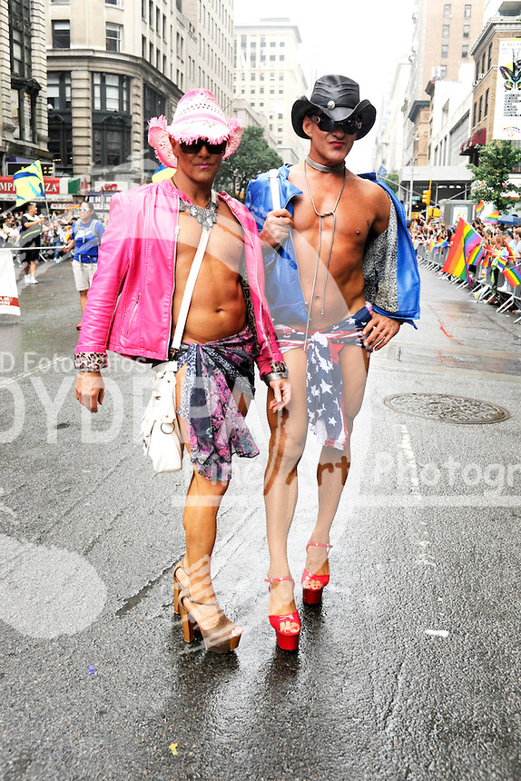 People march in the 2015 NYC Pride March on June 28, 2015 in New York City.